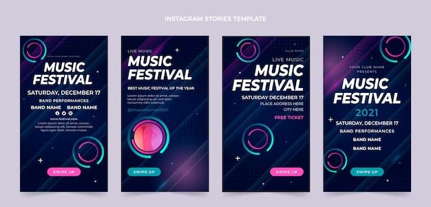 Градиент красочный музыкальный фестиваль instagram рассказы