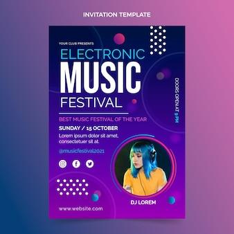 Приглашение на фестиваль градиентной красочной музыки