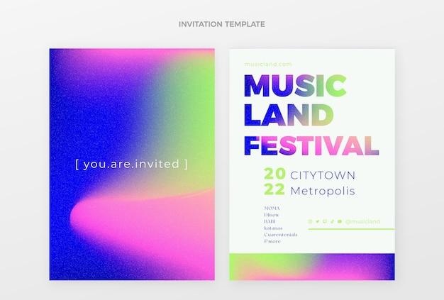 그라디언트 다채로운 음악 축제 초대
