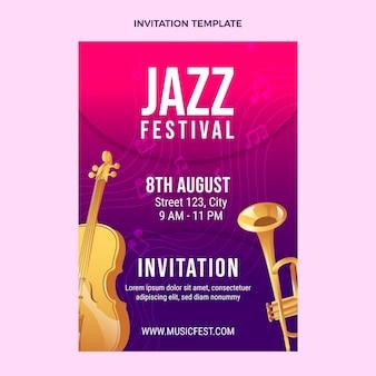 Gradient colorful music festival invitation