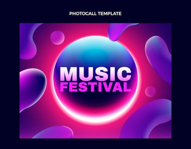 Photocall del festival musicale colorato sfumato