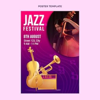 그라디언트 다채로운 음악 축제 포스터