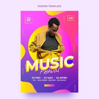 Градиент красочный плакат музыкального фестиваля