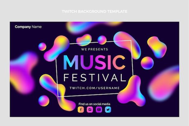 그라디언트 다채로운 음악 축제 트위치 배경