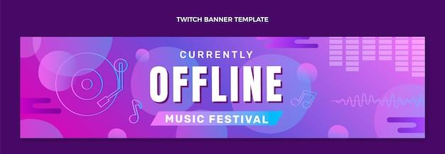 Градиент красочный музыкальный фестиваль twitch баннер