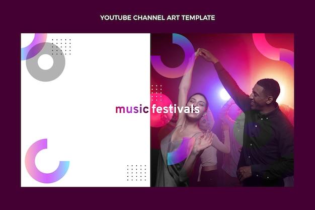グラデーションカラフルな音楽祭のyoutubeチャンネル
