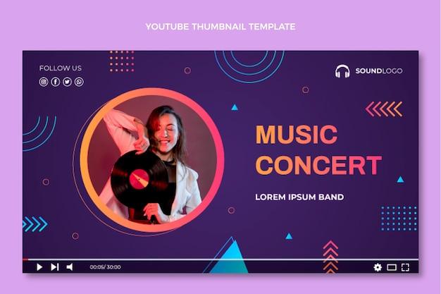 그라디언트 다채로운 음악 축제 youtube 썸네일