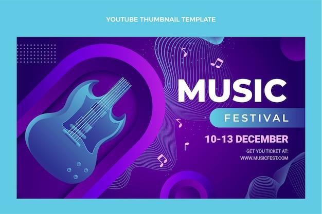 그라데이션 다채로운 음악 축제 유튜브 썸네일