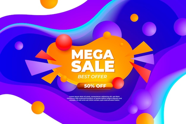 Gradient colorful sale background