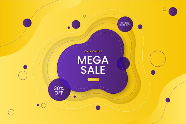 Gradient colorful sale offers background