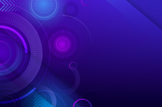 Gradient colorful technology background