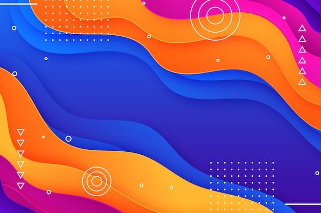 Sfondo ondulato colorato sfumato