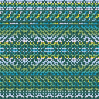 Gradient colors seamless pattern of a christmas ugly sweater