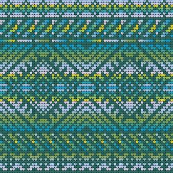 クリスマスの醜いセーターのグラデーションカラーシームレスパターン