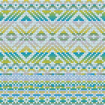 Gradient cool colors seamless pattern of christmas ugly sweater