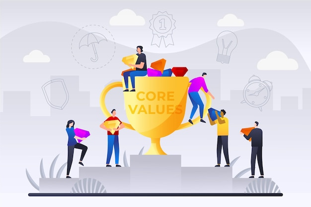 Фон основных ценностей градиента