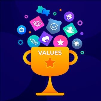 그라데이션 핵심 가치 개념 그림