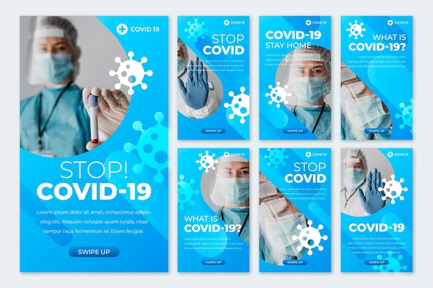 Коллекция историй градиента коронавируса instagram