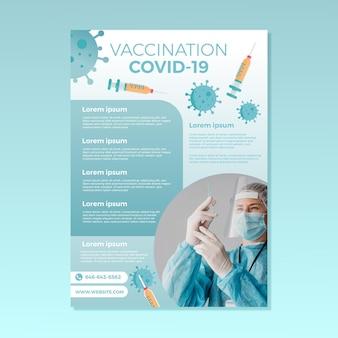 Volantino di vaccinazione contro il coronavirus a gradiente Vettore gratuito