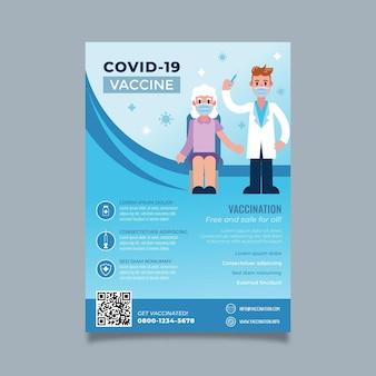 Volantino di vaccinazione contro il coronavirus a gradiente