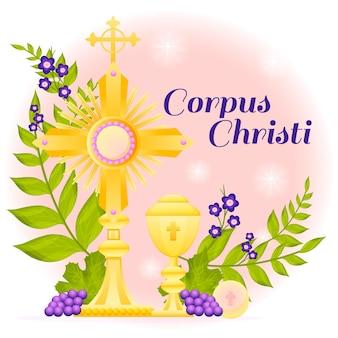 Illustrazione gradiente del corpus christi