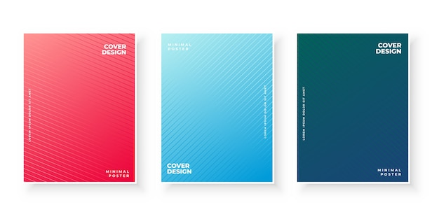 Gradient cover collection with line pattern