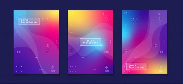 Gradient cover design template a4