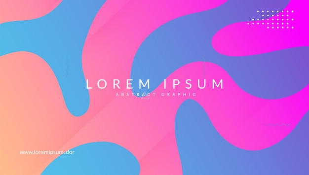Gradient cover. flat business template. futuristic frame. neon landing page. wavy abstract background. liquid pattern. blue bright banner. graphic screen. violet gradient cover