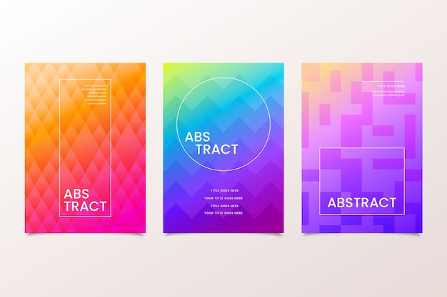 Gradient cover geometric shapes template