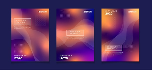 Gradient cover pages with blurred background