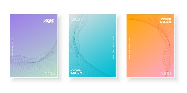 Gradient cover pages with curvy pattern