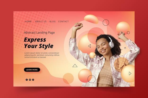 Gradient creative landing page template