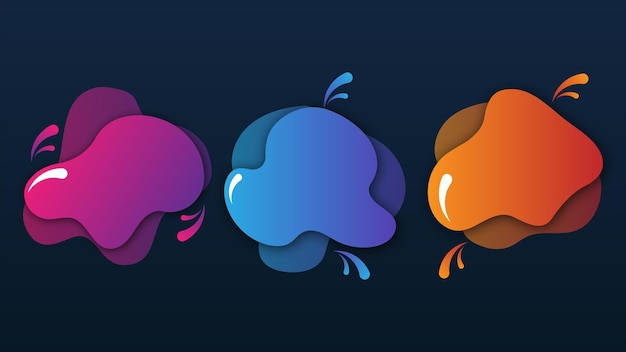 Gradient creative set of abstract elements