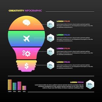 Infografica creatività gradiente