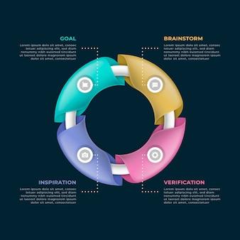 グラデーションの創造性のインフォグラフィック