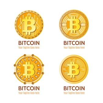 Gradient crypto logo collection Premium Vector