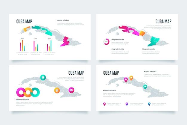 Gradient cuba map infographic