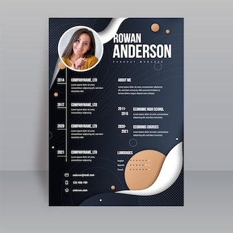 Gradient cv template Free Vector