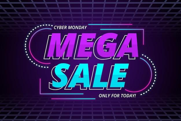 Gradient cyber monday sale background