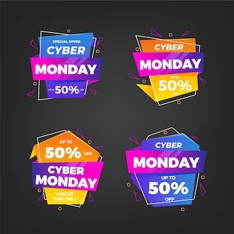 Gradient cyber monday sale badges collection