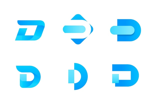 Gradient d logo collection