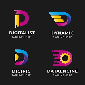 Gradient d logos collection