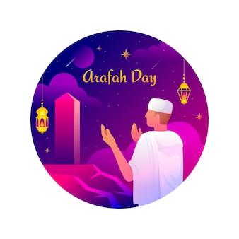 Gradiente giorno di arafah illustrazione