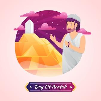 Giorno del gradiente dell'illustrazione di arafah