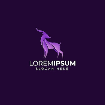 Gradient deer logo template design