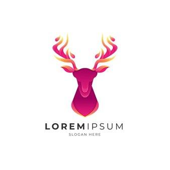 Gradient deer logo