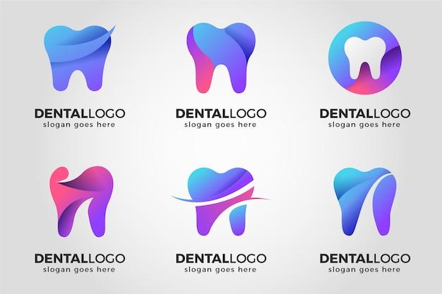 グラデーション歯科ロゴパック