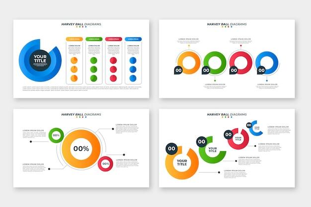 Gradient design harvey ball diagrams