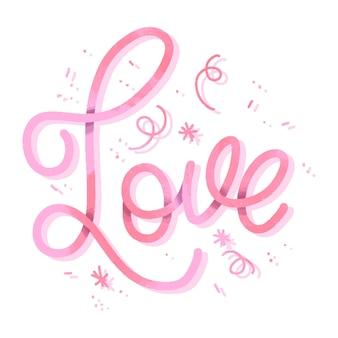 Gradient design for love lettering