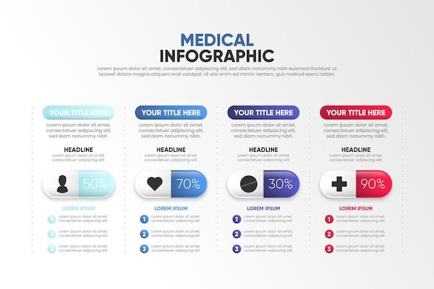 グラデーションデザイン医療インフォグラフィック
